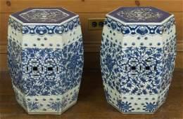 59: Pair antique Chinese porcelain garden seats