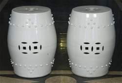 241: Pair antique Chinese porcelain garden seats