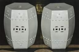 245: Pair antique Chinese porcelain garden seats
