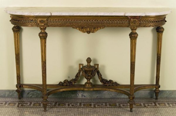 350: Antique Louis XVI style giltwood console table