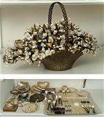 784: Group seashell accessories, gift of Imelda Marcos