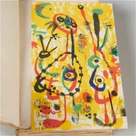 [Joan Miro] lithograph, Andre Breton, Humour Noir