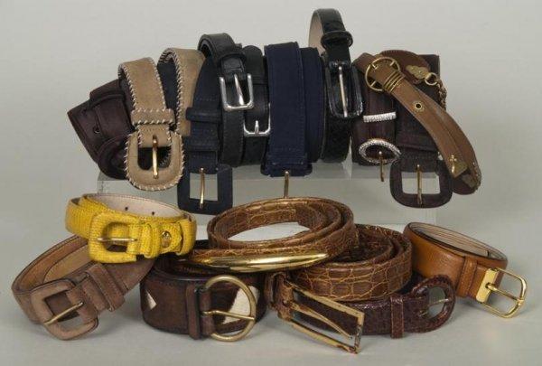 305: Group Lanvin, Veneta, Longchamps and Lauren belts