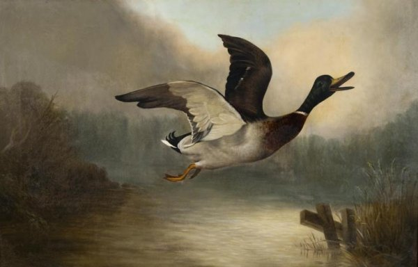 439: Charles Elnson (19th C., British), game painting