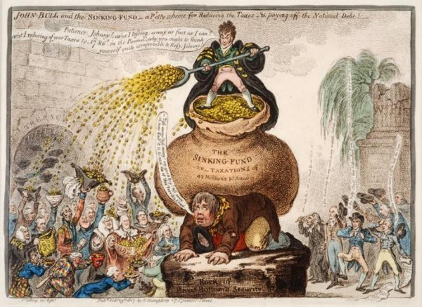447: James Gillray (1756-1815, British), colored etchin