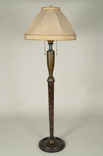 450: Hand-painted Japonisme floor lamp