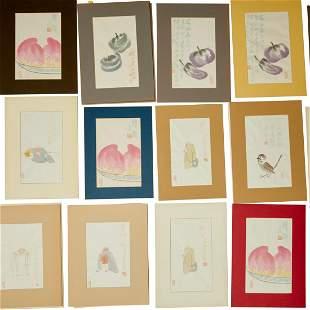 Qi Baishi, collection of vintage wood block prints