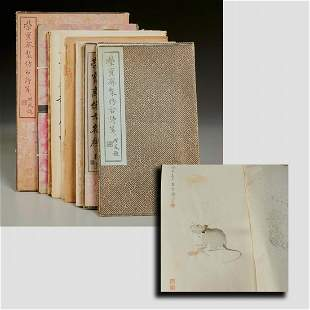 Chinese decorated letter papers, in orig. boxes