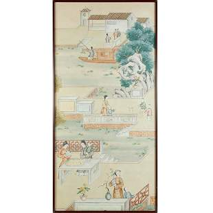 Chinese School, large scroll painting