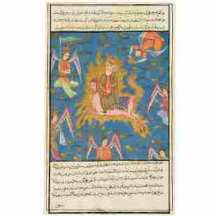 Persian painting, Mohammed ascending
