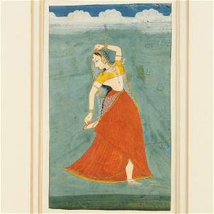 Mughal School, portrait of a dancer