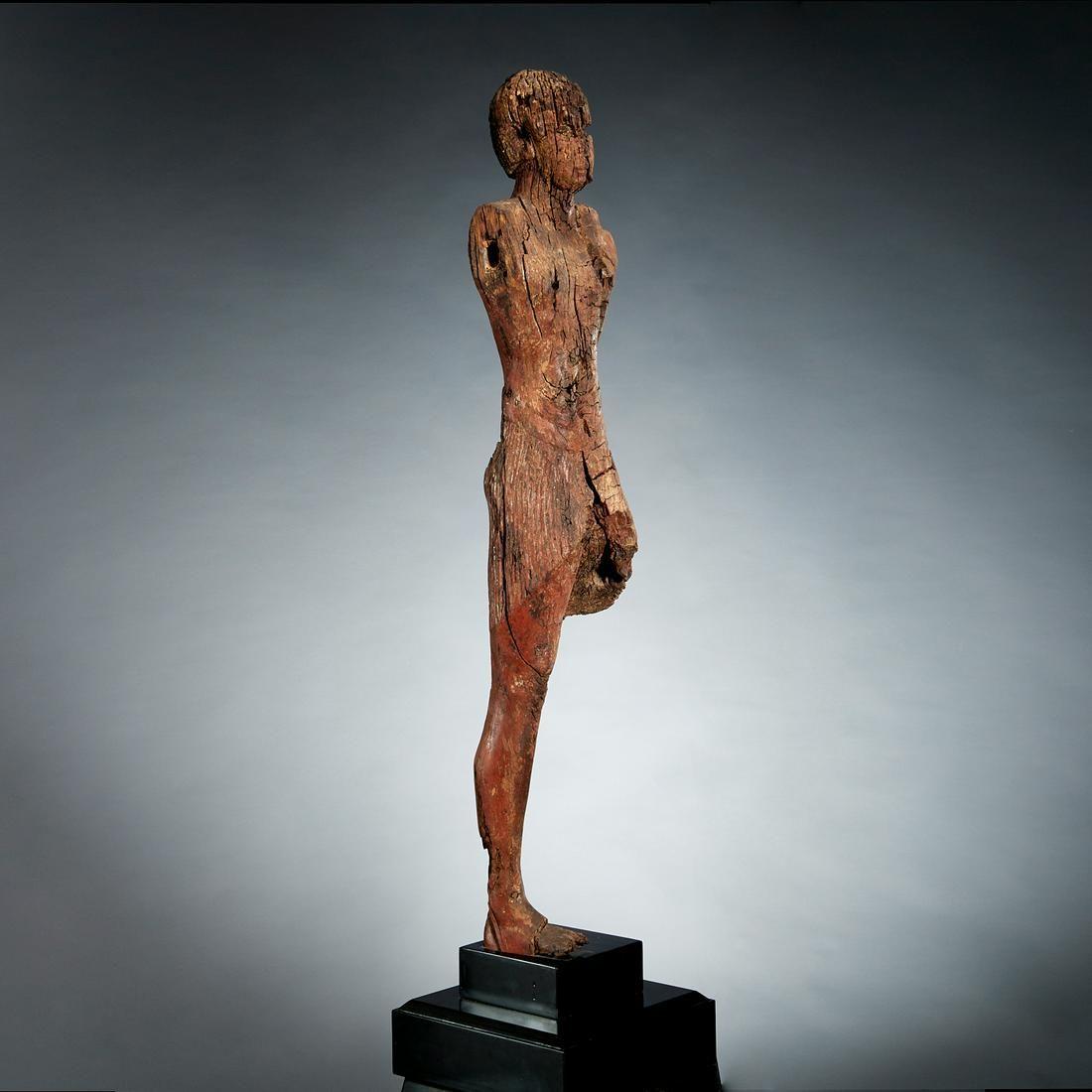 Large Egyptian wooden figure, Middle Kingdom