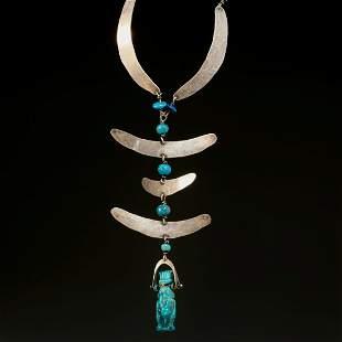 Ed Wiener, sterling choker necklace