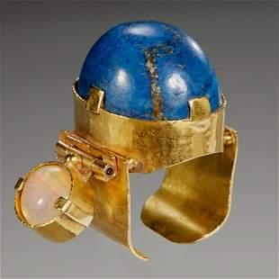 Mary Kretsinger 18k lapis lazuli & opal ring