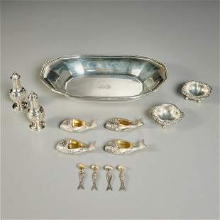 Tiffany & Co. sterling silver tableware group
