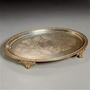 Tiffany & Co., early silver footed tray