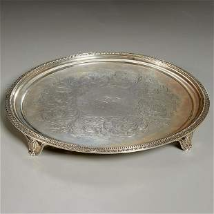 Tiffany & Co., American silver footed tray