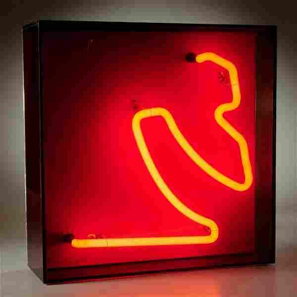 Chryssa, neon sculpture, 1972