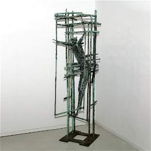 Leslie Thorton, large bronze sculpture, 1958