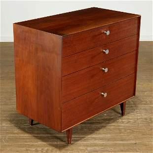 George Nelson, walnut 'Thin Edge' 4-drawer dresser