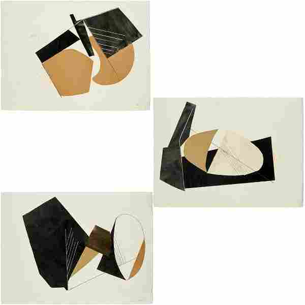 David Evison, (3) abstract collages