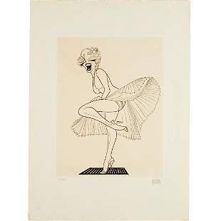 Al Hirschfeld, Marilyn Monroe, signed