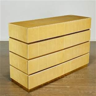 Rare Karl Springer eight drawer dresser