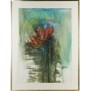 Jim Dine, large mixed media on paper, 1984