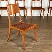 TH Robsjohn-Gibbings, (6) Klismos dining chairs