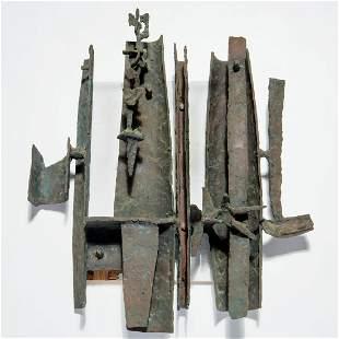 Tony Rosenthal, large bronze wall sculpture