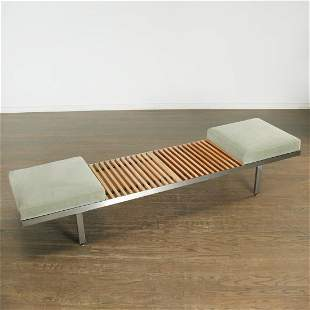 "George Nelson, steel and wood ""Contract Bench"""