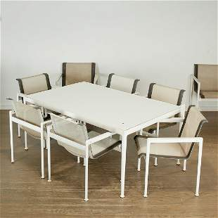 Richard Schultz, dining table and (8) chairs