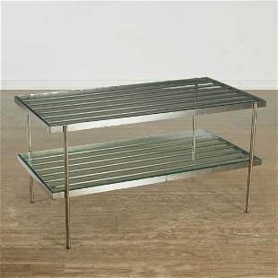 Ward Bennett (attrib.), steel tiered table