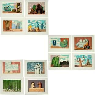 Magritte (after), Les Enfants Trouves portfolio