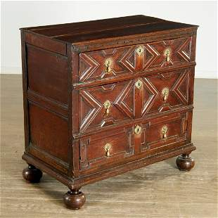 Jacobean oak chest, sourced Parish-Hadley