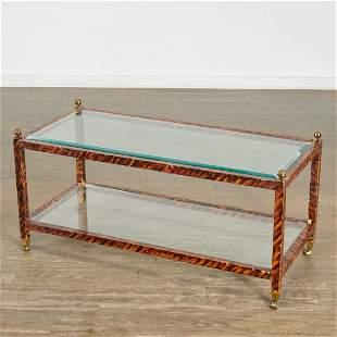 Parish-Hadley, custom faux tortoise coffee table
