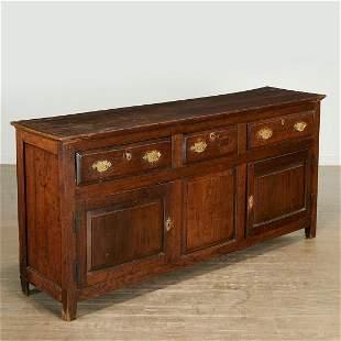 George III brass mounted oak sideboard