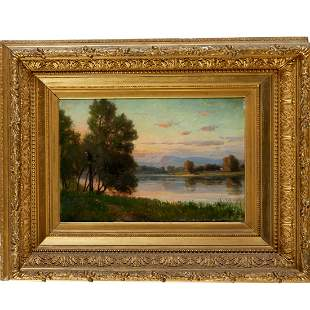 Edmund E. Case, oil on canvas