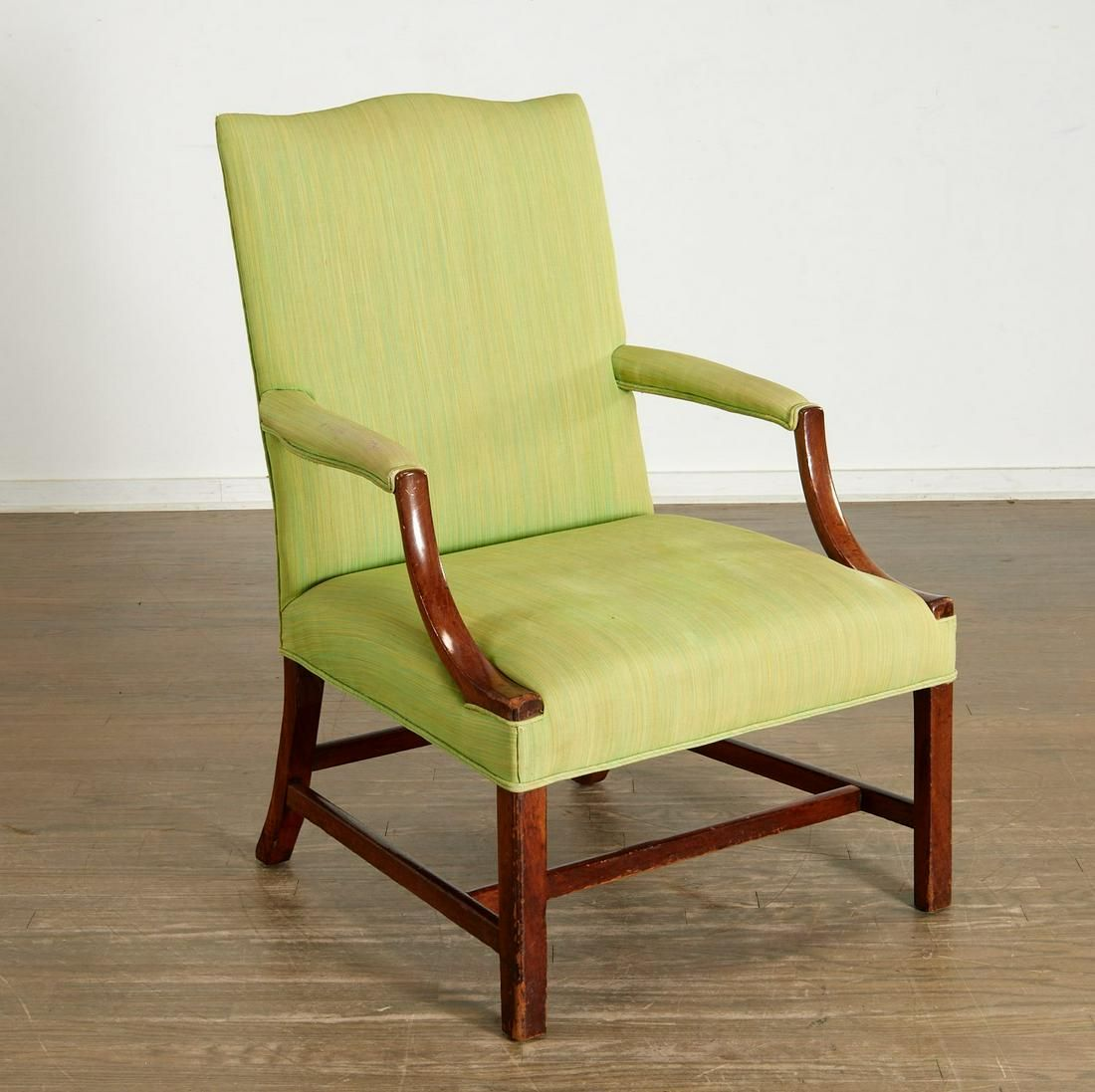 American Chippendale mahogany lolling chair