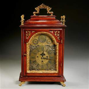 Continental bronze mounted repeating bracket clock