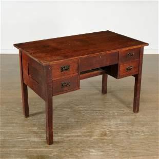 Gustav Stickley, Arts & Crafts oak desk model 709
