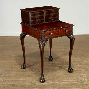 Unusual George III mahogany faux-front lady's desk