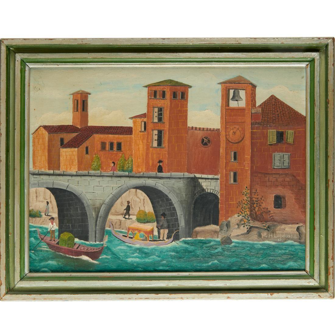 Lawrence Lebduska, oil on canvas, 1932