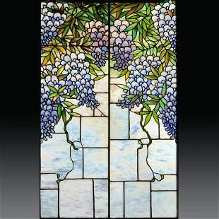 L.C. Tiffany (attrib) window, ex-Lillian Nassau