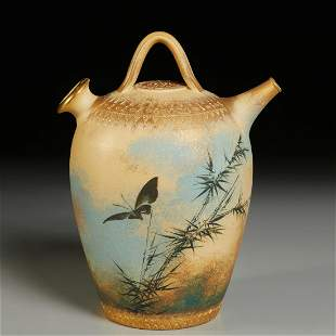 Rookwood, early M.A. Daley double-spouted pitcher