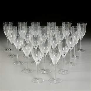 """Lalique, (19) """"Ange"""" champagne flutes"""