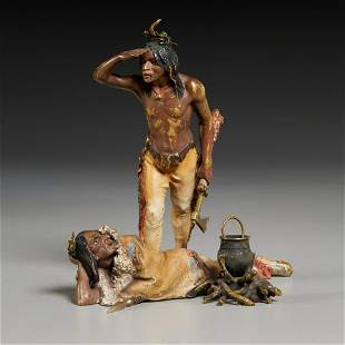 Franz Bergmann, Native American bronze