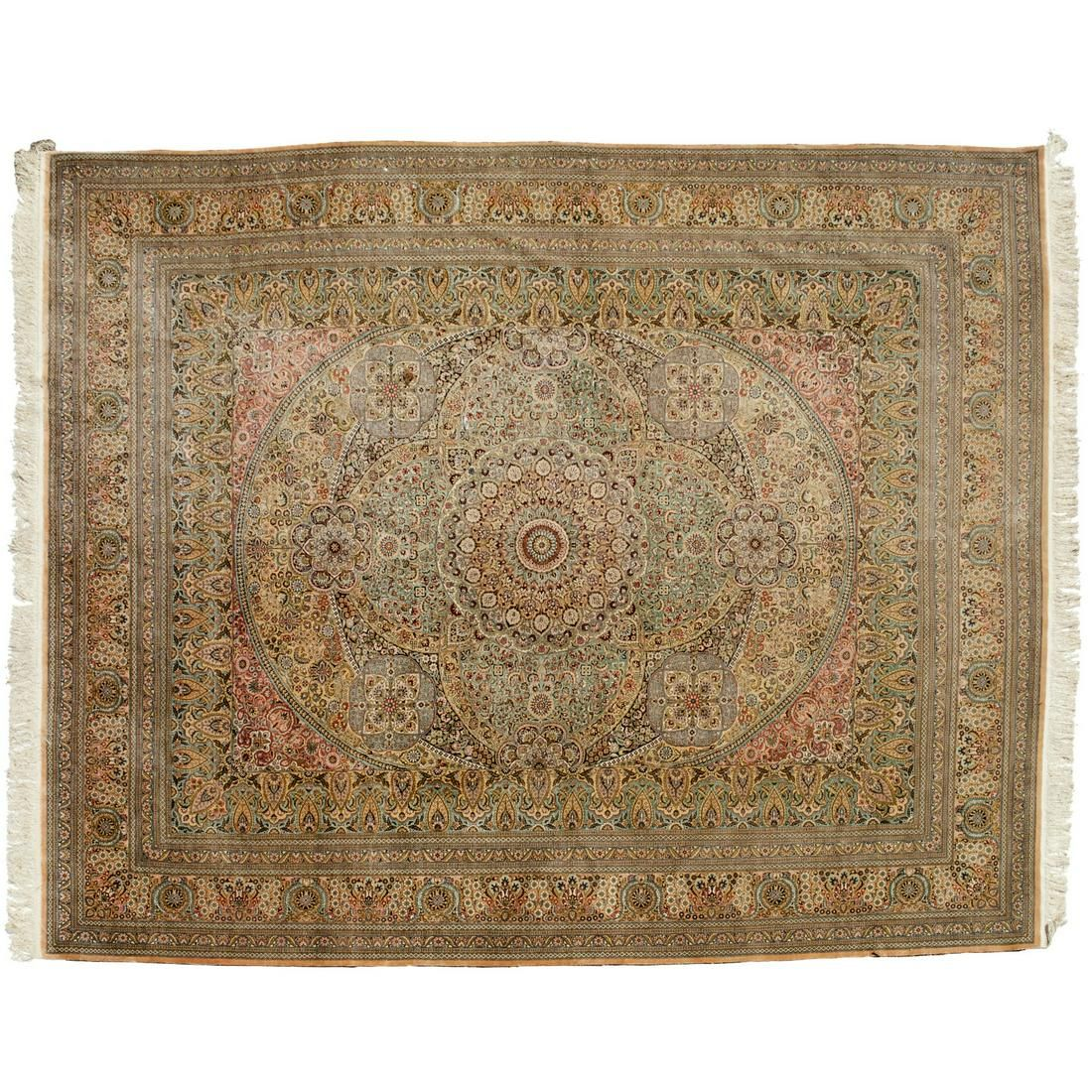 Fine Persian silk carpet