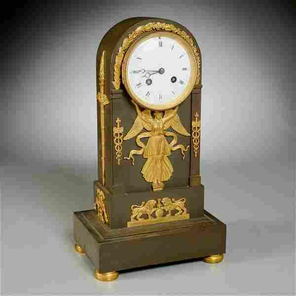 Tiffany & Co. retailed Empire mantle clock