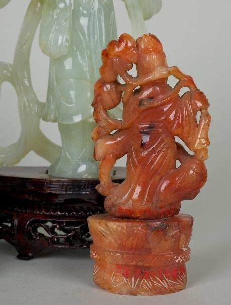 25: (4) antique hardstone Guanyin figures incl. ex coll - 2